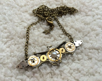 Steampunk Bat Necklace