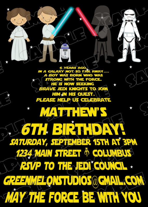 Star wars scroll jedi birthday party printable invitations uprint il570xn stopboris Image collections