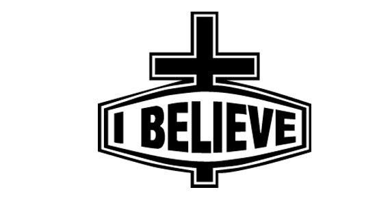 i believe cross religious car truck window decal sticker