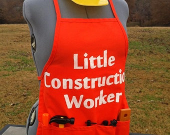 SALE - Little Construction Worker Apron *tools not included*