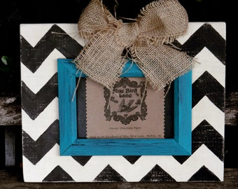 Rustic Distressed Wood 4 X 6 Chevron Picture Frame