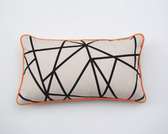 items similar to geometric cushion cover decorative lumbar pillow case throw pillow black and. Black Bedroom Furniture Sets. Home Design Ideas