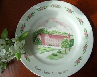 Vintage Avon Anniversary Dish