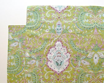 Large Cloth Placemats - Set of 2 - Green Ikat, touch of Purple -  Reversible