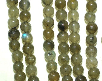 Labradorite 4mm Round Beads Full Strand 15.5 inches