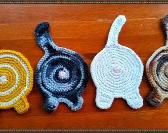 Cat Bum Coasters