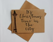 It's Christmas Time in the City - Handmade Christmas Card