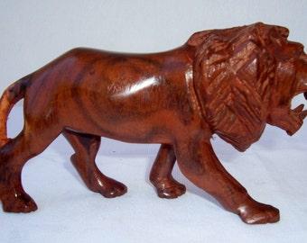 Rose Wood Animal Carvings Lion