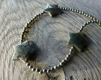Pyrite stars necklace.