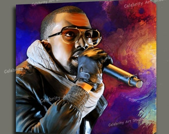 """Kanye West Glow In The Dark Tour Concert Canvas Giclee, Acrylic Art W Gallery Wrap Ready To Hang Up To Size 36X36X1.5"""""""