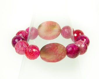 Wonderfull Stretch Agate Bracelet (dyed).
