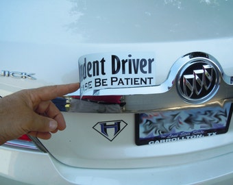 Student Driver New Student Driver Magnetic Safety Sign - Easily Move from Car to Car Reflective