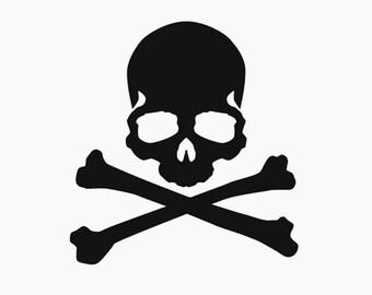 Skull and Cross Bones Decal - Outdoor Vinyl
