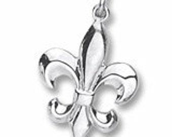 Sterling Silver Fleur de Lis Charm by Rembrandt