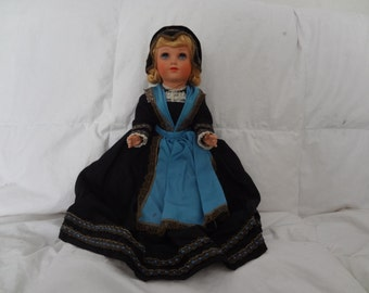 5 and 10 Vintage Hard Plastic Costumed Doll