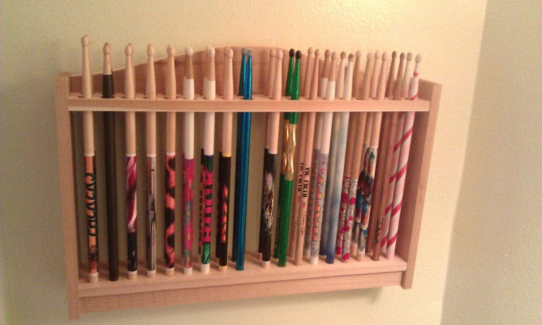 drum stick display rack drumstick holder solid cedar wood. Black Bedroom Furniture Sets. Home Design Ideas