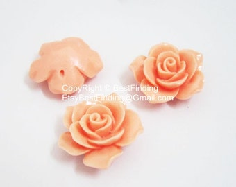10pcs 35mm Resin flower with hole Resin rose bead Camellia beads