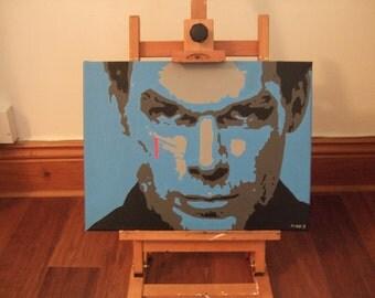 "Dexter - Original hand painted acrylic canvas - 16"" x 12"""