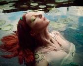 Print ~ High quality print ~ Helena III ~ photo fashion poster fantasy mermaid romantic potrait photograph print fine art