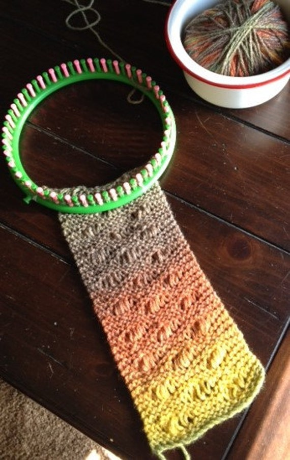 Seafoam Stitch Scarf - a loom knit pattern