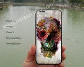 Skull 2 Ali Gulec,iPhone 5S case,iPhone 5C case,Samsung Galaxy S3 S4,iPhone 4 Case,iPhone 5 Case,iPhone 4S case,Floral Paints-195
