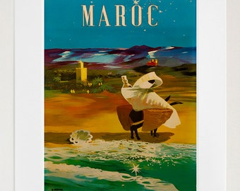 Morocco Art Travel Poster Print Wall Decor (XR126)