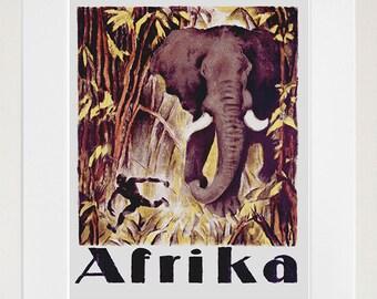 Africa Travel Poster African Art Print Home Decor (ZT393)