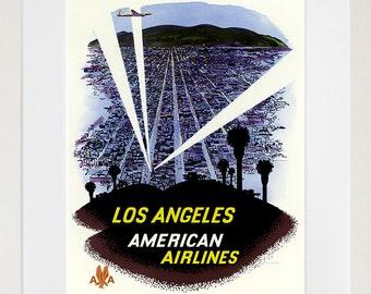 Hollywood Vintage Travel Poster California Wall Art Print (ZT590)