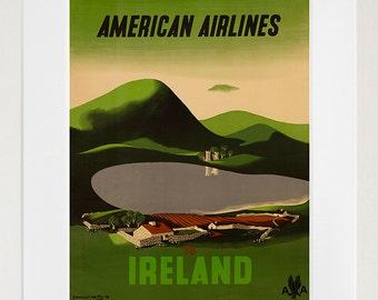 Ireland Art Vintage Travel Poster Print Home Irish Wall Decor (XR359)
