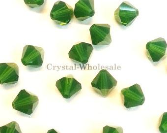 Palace Green Opal (393) Swarovski Elements 5328 / 5301 4mm Crystal Xilion Bicone Beads ** FREE Shipping
