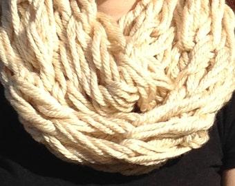 Arm Knit Infinity Scarf; Arm Knit Scarf; Womens Scarf