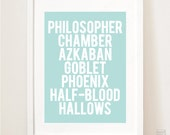 Harry Potter Decor, Boys or Girls Room Harry Potter Book Titles, Boys room wall art for boys room, nursery wall decor