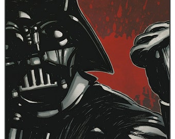 Star Wars - Darth Vader colour print