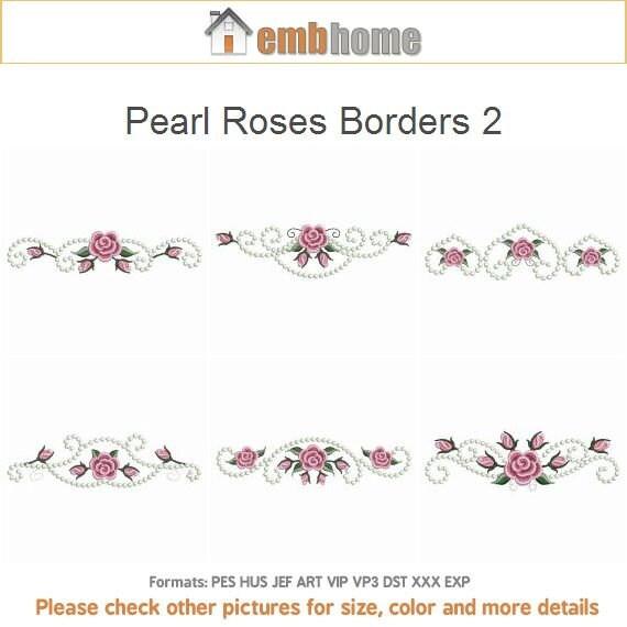 Floral Roses Designs Pearl Roses Borders 2 Floral