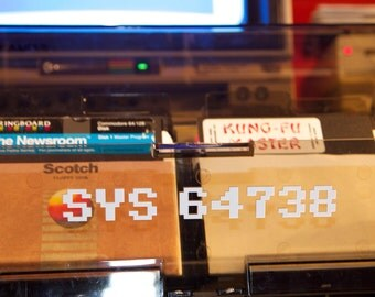 Commodore 64 SYS 64738 Reset Sticker/Decal C64