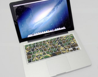 "Macbook Keyboard sticker Camouflage Wood for Mac Apple Macbook pro Macbook Air 13 ""15"" 17 ""AMERICAN KEYBOARD"