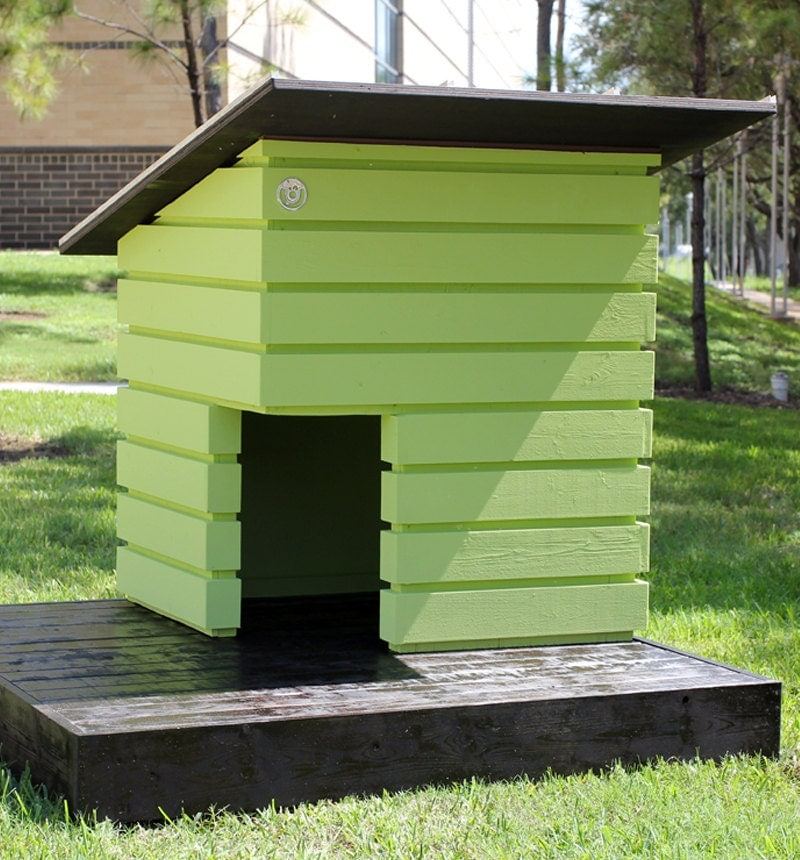 The pad handmade modular outdoor dog house for Modern dog house designs
