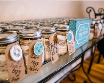 Sweet Treat-Cookies in a Jar. Perfect for a wedding or shower favor.