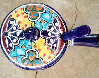 Talavera Pan with spoon