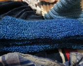 Blue Scarf on Loom