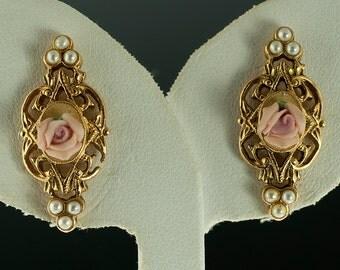 SALE--Pretty in Pink Earrings