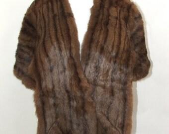 50% OFF Vintage 1940s Mink Fur Stole Wrap