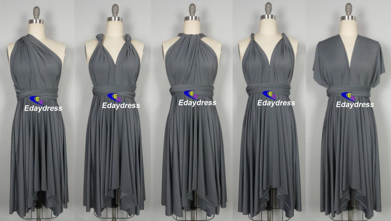 FREE BANDEAU knee length Short Bridesmaid Convertible Dress