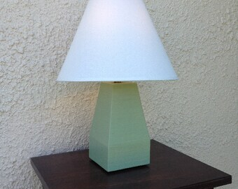FREE SHIPPING Plaza wood table lamp without shade, with 60 W equiv. LED bulb.