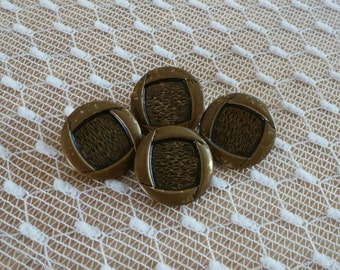 Vintage Brown Metal Buttons