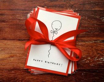 Birthday Bundle! x5 Custom hand-drawn birthday cards // Mix and match by Tori Doodles