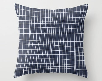 Minimalist Pillow cover, 45 colors, Graphic Pillow cover, Geometric Pillow cover, Grid Pillow Cover, Lines Pillow Cover, modern pillow cover