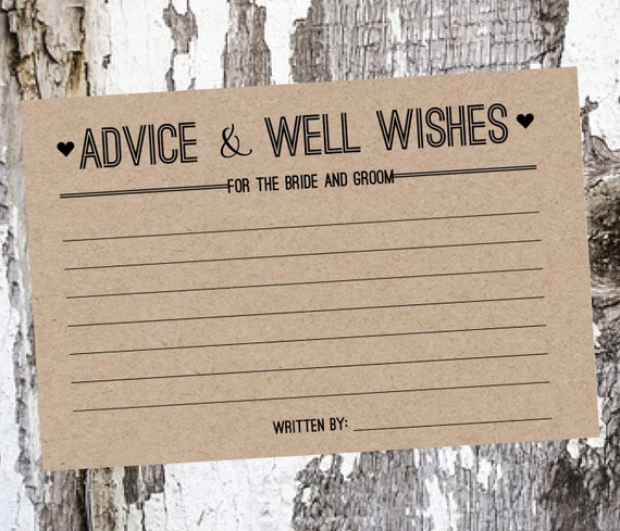 25 Wedding Advice And Well Wishes Cards By SouthernCards On Etsy