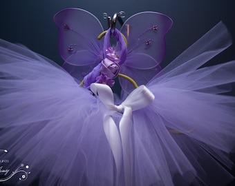 Fairy Lilac Newborn - 4T tutu set with Matching wings and Headband. Newborn Costume, Cake Smash, Photography Prop. Birthday Party, Dress up