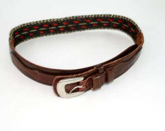 Vintage TexTan Genuine Cowhide Belt Made in USA